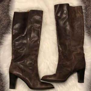 Jcrew Brown Leather Riding Boots